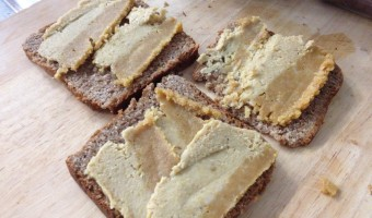 Nut Cheese & Fresh Tomato on Sprouted Bread